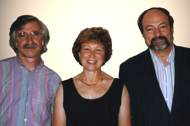 Peter Tourin and Jean Twombly with Prof. Donald Beecher